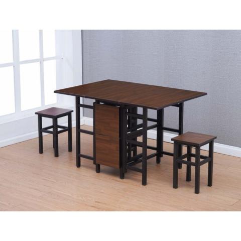胜芳推拉桌批发 推拉玻璃餐桌餐台 可调节大小推拉桌 折叠推拉台 可伸缩拉长 政浩家具