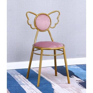 胜芳家具批发 网红椅 铁艺椅蝴蝶椅 钛金椅 咖啡椅奶茶椅主播椅可定制主题餐厅椅酒店椅软包椅 时尚椅子 建军家具
