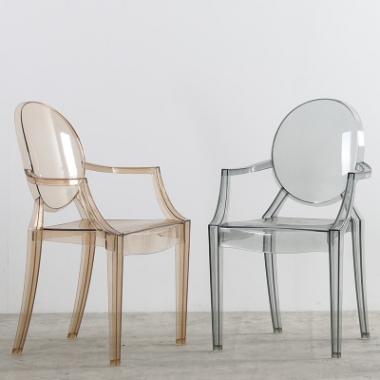 北欧餐椅ins幽灵椅魔鬼网红家用塑料水晶凳子亚克力透明化妆椅子标典家具