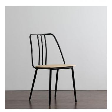 北欧铁艺椅子 奶茶咖啡店家用镂空椅美式创意金属餐厅餐椅酒吧椅标典家具