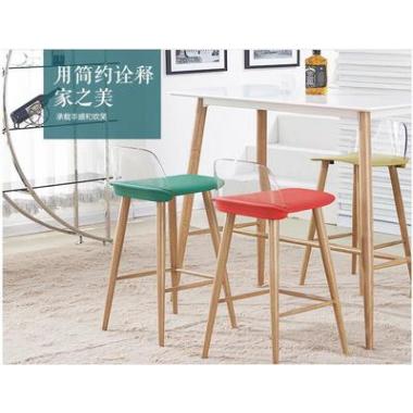 厂家直销铁艺吧台桌靠墙窄桌子北欧酒吧桌椅组合家用吧桌高脚桌标向家具