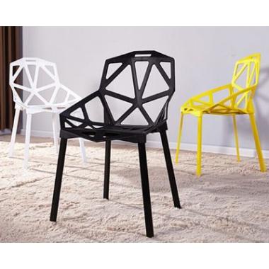 现代简约北欧设计师创意塑料咖啡厅奶茶店甜品店时尚户外铁艺椅子标向家具