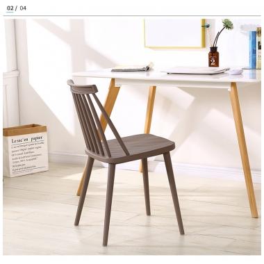 现代简约温莎椅子书房书桌椅休闲靠背洽谈椅家用餐厅北欧餐椅工厂标向家具