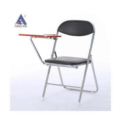 精品带写字板折叠 学习椅 办公椅 简约折叠会议椅记者椅芳鑫万博manbetx在线