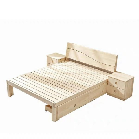胜芳床铺批发双人床 实木床 折叠双人床 木质双人床 双人板床 木质床 卧室家具 胜芳家具 家具批发 康鑫家具