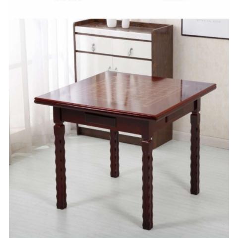 胜芳麻将桌批发 实木麻将桌 两用麻将桌 休闲娱乐桌