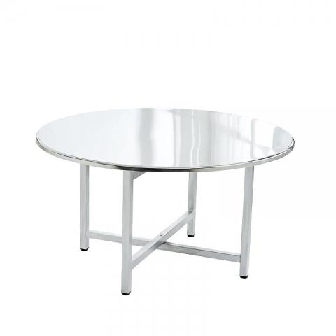 胜芳不锈钢桌面批发 不锈钢圆桌 食堂餐桌 酒店餐桌
