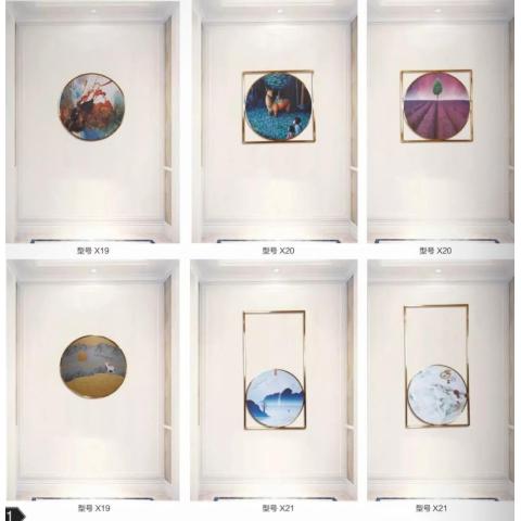 北欧风装饰画客厅沙发背景墙面挂画组合壁画美式餐厅现代简约大气  鑫富成家具