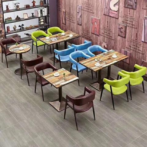 胜芳餐桌椅批发 复古式餐桌椅 主题餐桌椅 转印餐桌椅 钢木家具 快餐桌椅 休闲家具 会所家具 酒店家具  珍鑫家具