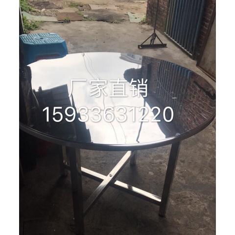 万博Manbetx官网桌面批发 不锈钢镀锌圆桌面 餐厅学生食堂桌面