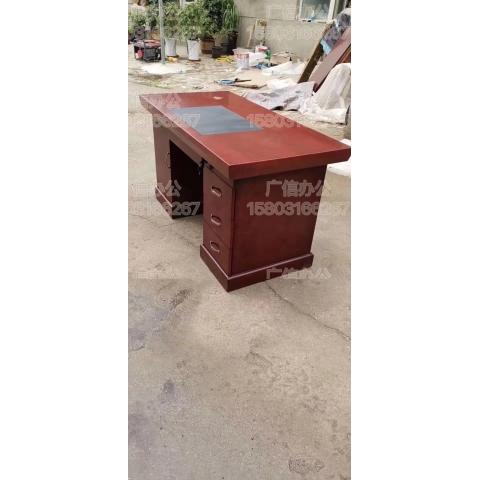 老板桌油漆会议桌环保无污染字台木皮高档办公桌