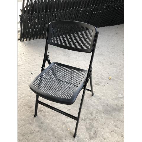 胜芳 培训椅 塑料 可折叠椅子 职员办公接待椅 会场靠背椅子 会议折椅 红利家具厂办公椅批发