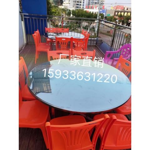 万博Manbetx官网圆桌批发 不锈钢圆桌面 食堂桌面 餐厅圆桌