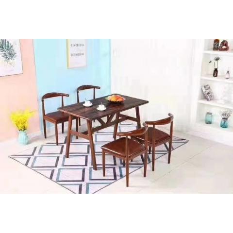 胜芳餐桌椅批复古桌椅转印牛角椅各种餐桌批发伟达家具
