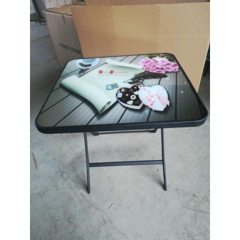 胜芳方圆桌批发 圆形简易折叠餐桌 正方形餐桌 酒店大圆桌 圆形折叠桌 小户型家用折叠饭桌 玉振家具