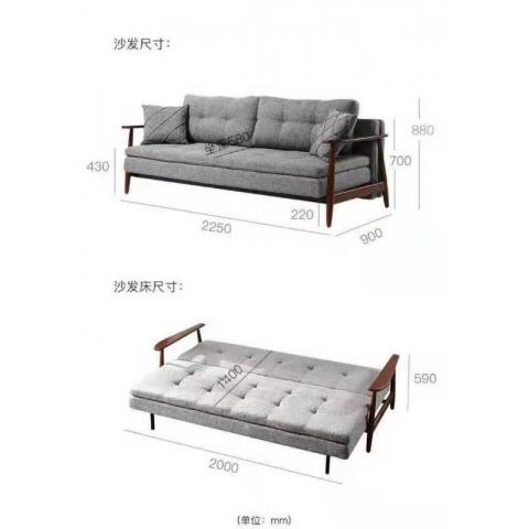胜芳沙发床批发 多功能沙发床 折叠沙发床 变形软床 休闲家具 单人床 北欧沙发 军发家具
