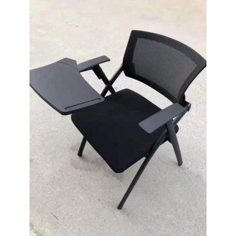 胜芳折叠椅培训椅带写字板椅子新闻椅职员一体小桌板折叠会议室椅员工办公椅华特家具