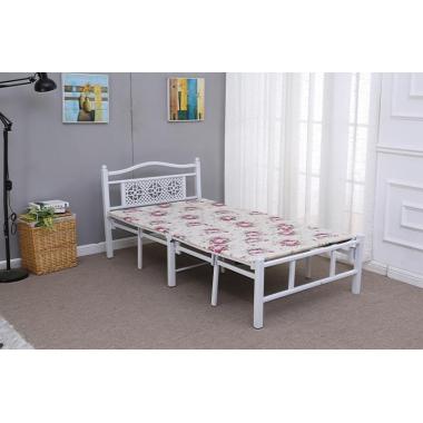 胜芳圆头两折床 折叠床 简易床 午休床 四折床 单人床 陪护床 铁艺床 竹板床 龙骨床 单人床批发  顺合家具