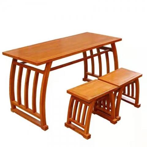 胜芳书桌批发 书法桌 仿古桌 培训书画桌 国学课书桌  中亮家具