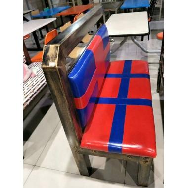 胜芳家具批发 卡座 咖啡椅 懒人椅 沙发椅 复古铁艺卡座 休闲 餐馆西餐厅咖啡厅桌椅组合 谈桌椅组合 长兴源家具