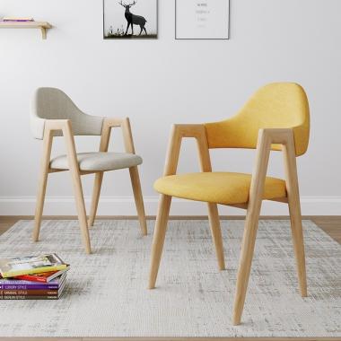 北欧风椅子现代简约学生书桌椅网红化妆电脑凳子靠背家用北欧餐椅