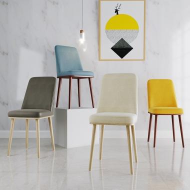 餐桌椅子时尚现代简约休闲网红凳子靠背餐厅创意北欧餐椅成人家用