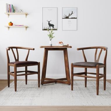 北欧椅子靠背现代简约书桌电脑凳子家用书房太师椅 y椅新中式餐椅