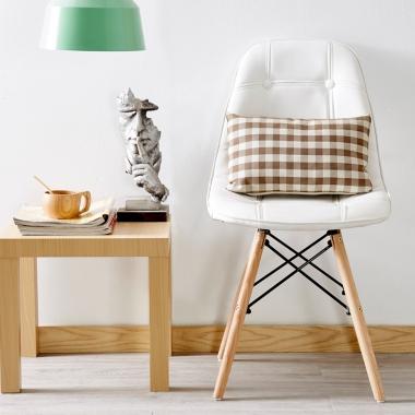 伊姆斯椅子创意现代简约书房办公椅白色书桌凳子靠背成人北欧餐椅
