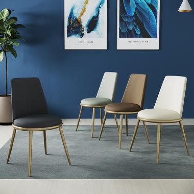 北欧餐椅家用轻奢后现代简约餐厅餐桌椅子靠背网红化妆凳子ins风