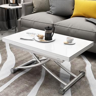 小户型简约升降茶几餐桌两用多功能家用客厅折叠可移动茶几变饭桌