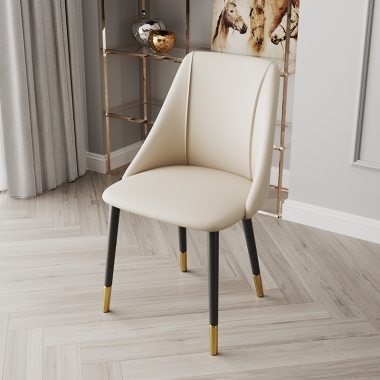 北欧轻奢餐椅家用后现代简约餐桌椅子时尚书桌凳子网红化妆靠背椅