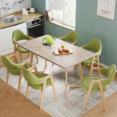 北欧餐桌小户型歺桌椅现代简约餐桌椅组合4人6家用北欧风吃饭桌子