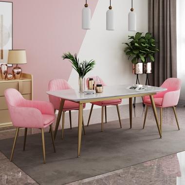 轻奢ins网红餐桌家用大理石北欧歺桌子小户型餐桌椅组合现代简约