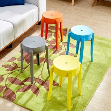 小圆凳子加厚成人塑料椅子省空间高餐桌板凳家用高凳时尚创意简约