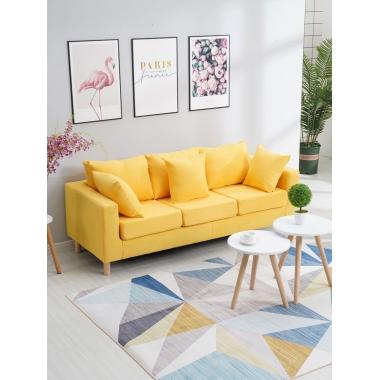 双人布艺沙发小户型租房小沙发网红款服装店客厅简易单人懒人沙发