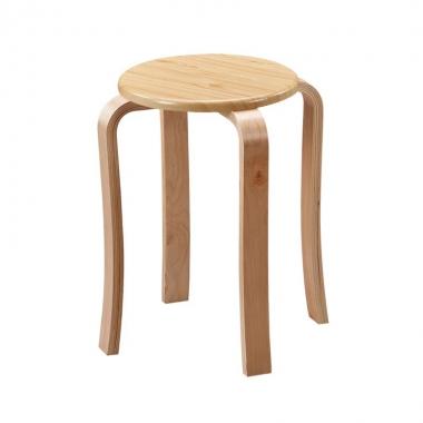 家用木头高凳子时尚小圆凳简约实木餐桌矮凳成人椅子加厚曲木板凳