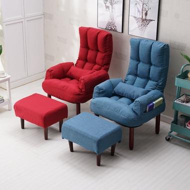创意懒人沙发单人电脑沙发椅喂奶哺乳椅子简约小户型日式折叠躺椅