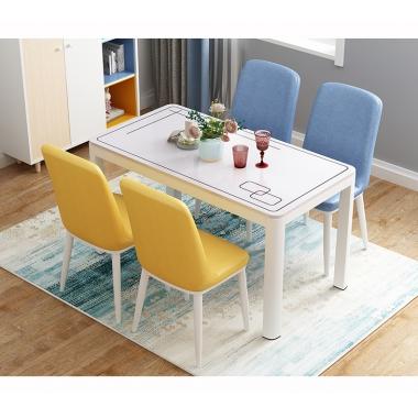 北欧餐桌椅现代简约家用书桌椅子靠背创意餐厅饭桌椅仿实木咖啡椅