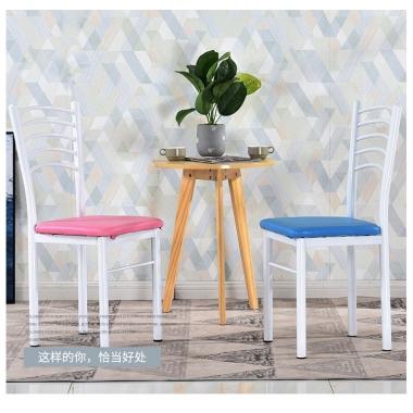 家用简易餐厅椅子靠背简约现代饭店快餐椅时尚酒店餐桌椅成人铁艺