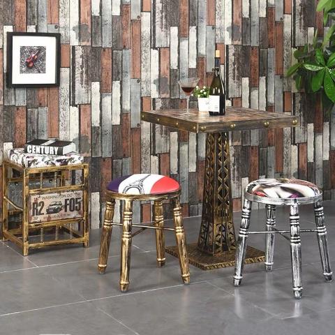 胜芳铁腿凳子批发 钢筋凳,套凳,铁腿凳子长兴源家具