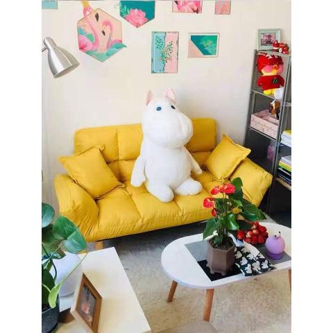 胜芳懒人沙发批发 贵妃榻 折叠沙发 出租房简易沙发