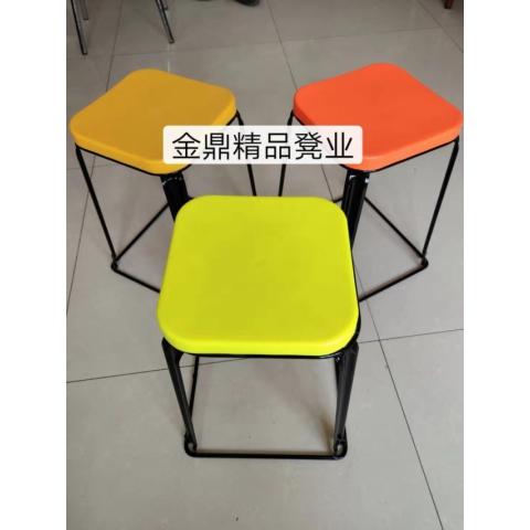 胜芳铁腿凳子批发 三腿凳子 四腿凳子 铁质凳子 钢筋凳 套凳 圆凳 简易家具 金鼎家具