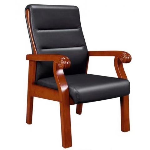 会议椅实木橡木办公椅