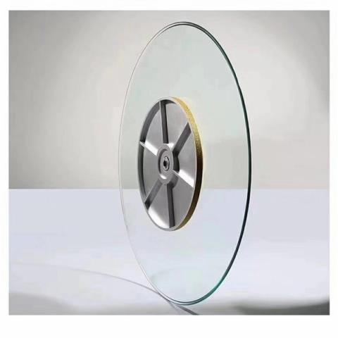 胜芳批发钢化玻璃转盘挖洞玻璃转盘车彩玻转盘