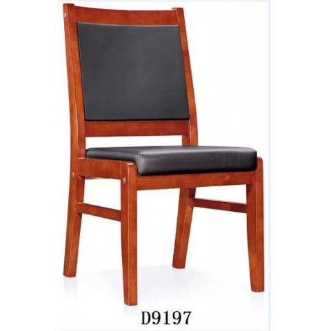 会议椅实木办公椅橡木麻将椅