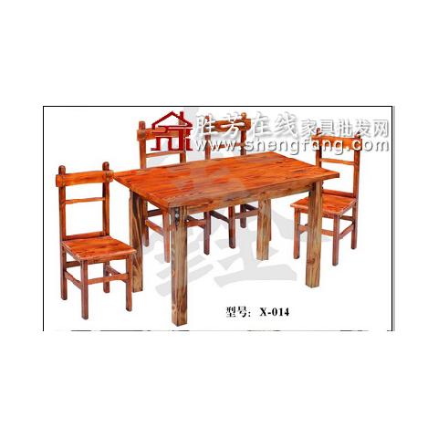 胜芳火烧木餐桌椅批发 复古式餐桌椅 实木餐桌椅 主题餐桌椅 转印餐桌椅 钢木家具 快餐桌椅 休闲家具 鑫兴家具