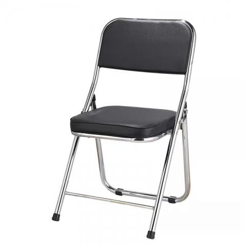 胜芳折叠椅批发 108椅 4号椅 大靠背椅 折叠椅 家用会客椅  电脑椅 办公椅 培训椅 会议椅 华特家具
