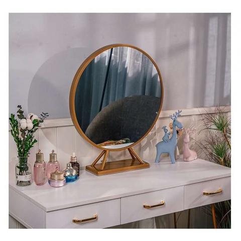 胜芳梳妆镜批发 浴室镜 理容镜 化妆镜 美妆镜 梳妆台镜子 浴室柜镜子 公主镜 贴墙铁艺镜 网红镜子 厂家直销 卧室家具 卫生间家具 祥华家具