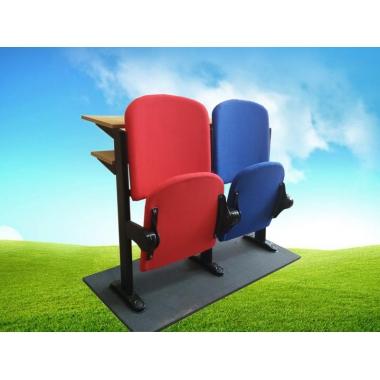 胜芳礼堂椅批发 固定脚带写字板 礼堂椅 剧院椅 影院椅 阶梯椅 铝合金脚多媒体报告厅椅 礼堂排椅 嘉琪家具