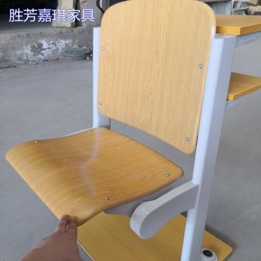 【嘉琪家具】碧丽华模压板阶梯教室排椅 课桌椅 联排椅 礼堂椅 厂家直供